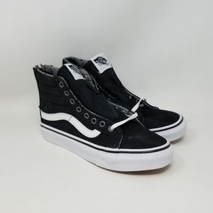 Vans Sk8-Hi Slim Zip Tweed Dots Sneakers Men's 3.5